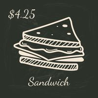 Sandwich menu title with price