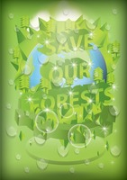 Save our forests poster