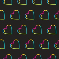 Seamless heart symbol pattern