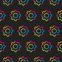 Seamless settings symbol pattern