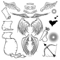 Set of angel icons Vector Image - 1531924 | StockUnlimited