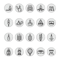 Set of assorted icons