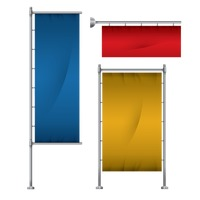 Set of banner flag stand