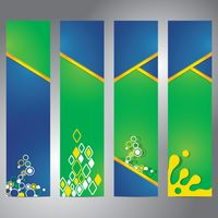 Set of banners with abstract design