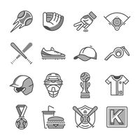 Set of baseball icons