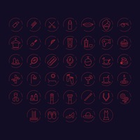 Set of beauty icons