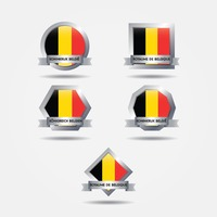 Set of belgium flags