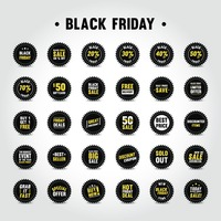 Set of black friday stickers
