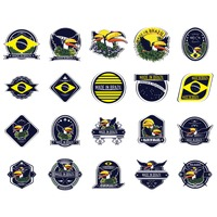Set of brazil labels