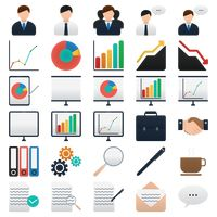 Set of business elements icon