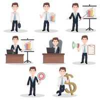 Set of businessman figures