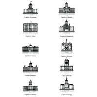 Set of capitol buildings