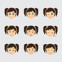 Set of character icons