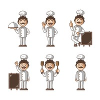 Set of chef icons