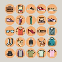 Set of clothing icons