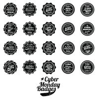 Set of cyber monday badges