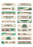 Set of cyber monday sale banners