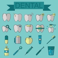 Set of dental icons