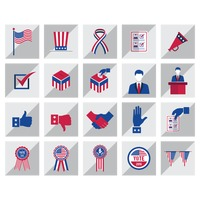 Set of elections icons