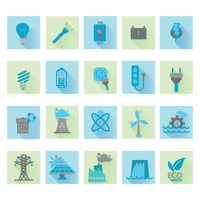 Set of electric icons