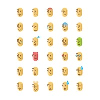 Set of emoticon icons