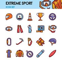 Set of extreme sport icons