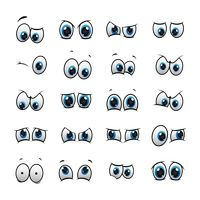 Set of eyes expressions