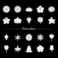 Set of flower icons