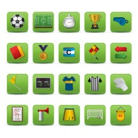 Set of football items