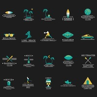 Set of fun activities icons