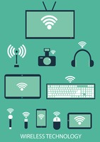 Set of gadgets with wireless single