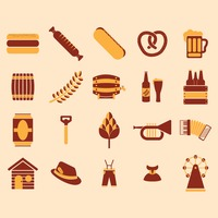 Set of german octoberfest icons