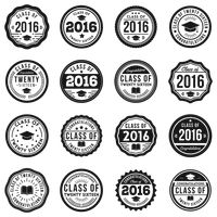 Set of graduation stamps