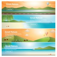 Set of great nature banners