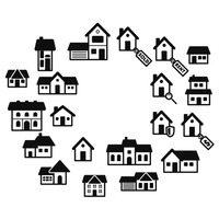 Set of homes icons