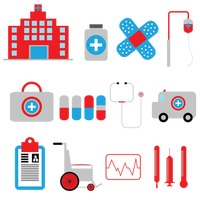 Set of hospital icons
