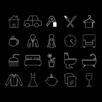 Set of house hold icons