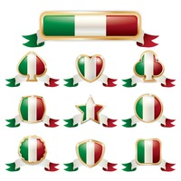Set of italy badges