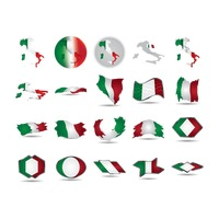 Set of italy flags