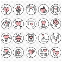 Set of love icons