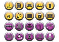 Set of oil gas icons