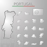 Set of portugal cities maps