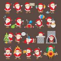 Set of santa claus icons