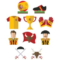 Set of spain general icons