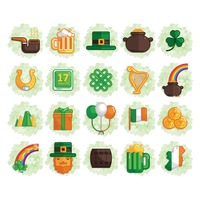 Set of st.patrick's day icons