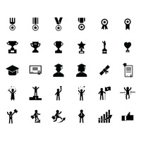 Set of successful icons