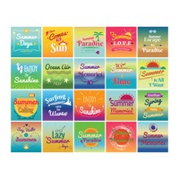 Set of summer holiday designs