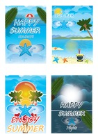 Set of summer posters