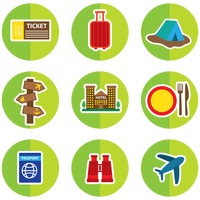 Set of travelling icons