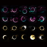 Set of universe icon and moon phases